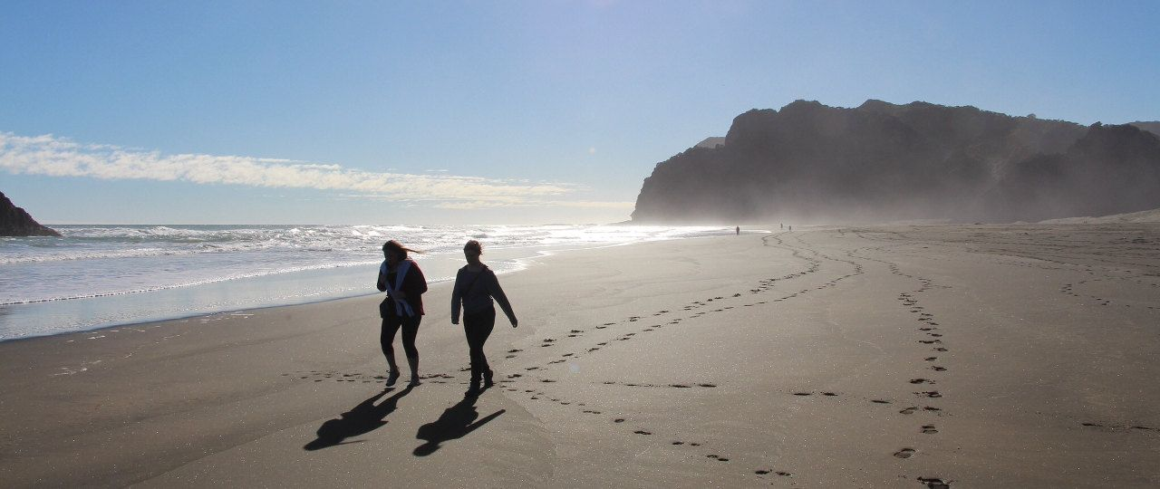 Walking on Karekare Beach, Auckland